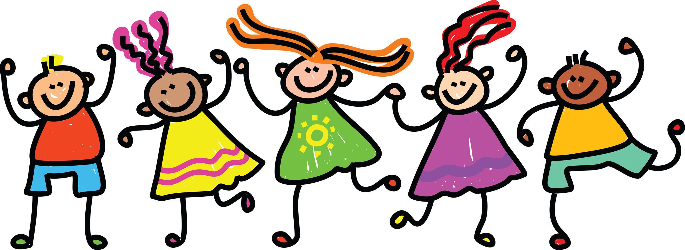 Kids danceing clipart